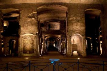 Die untere Ebene der San Gennaro Katakomben