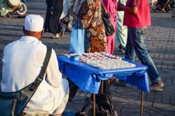 Händler auf dem Djemaa El Fna