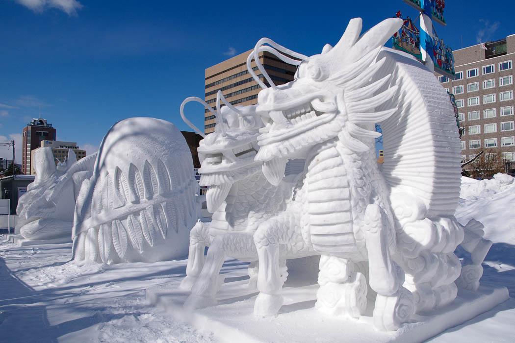 Schneeskulpturen in Sapporo