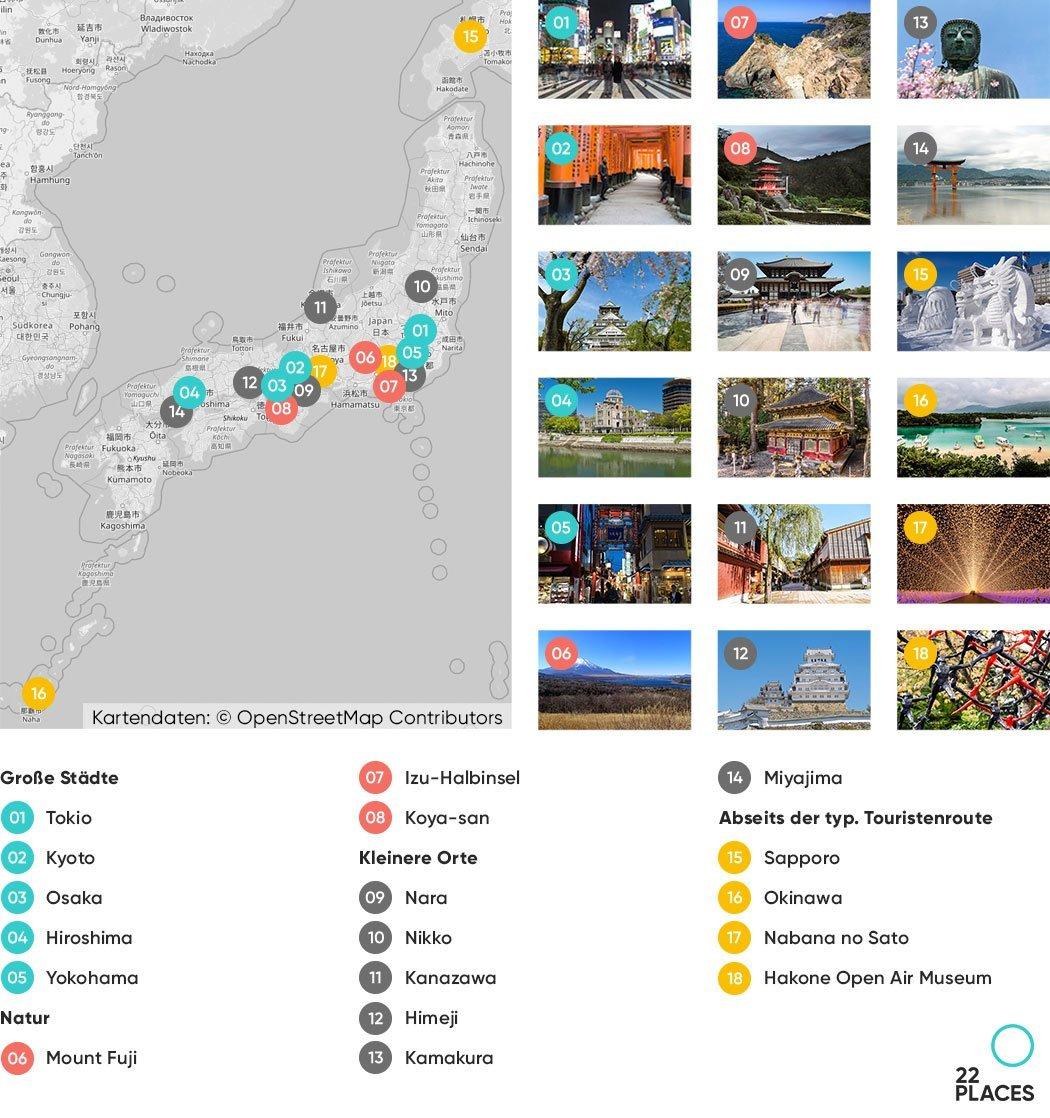 Japan Sehenswürdigkeiten