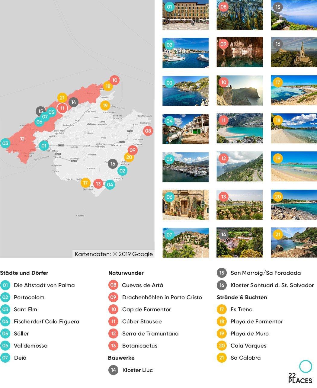 Mallorca Sehenswürdigkeiten Karte