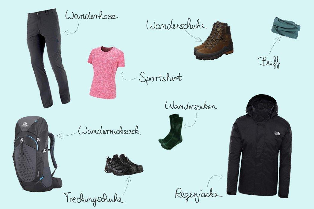 Packliste Wohnmobil Outdoor-Kleidung