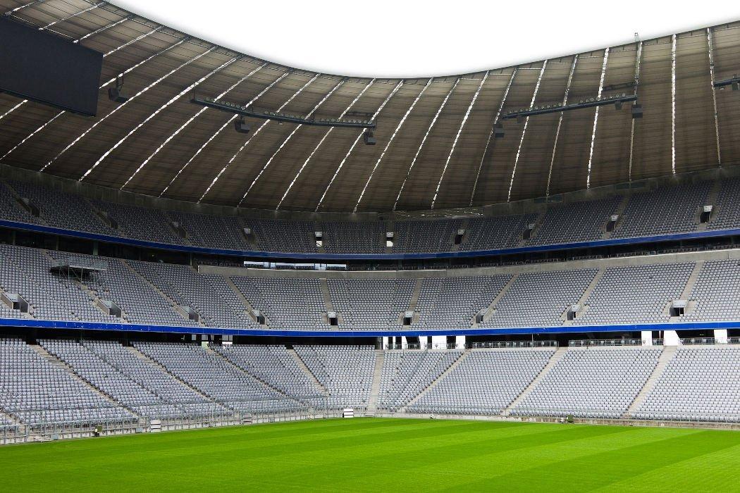 Die Münchner Allianzarena von Innen