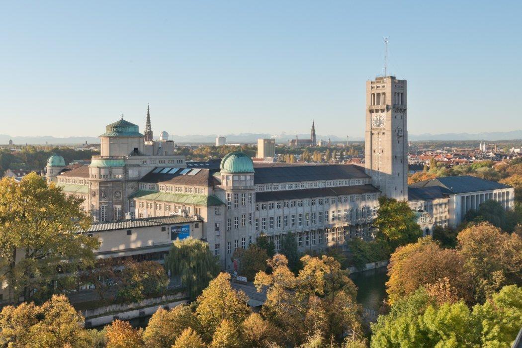 Luftansicht des Deutschen Museums in München