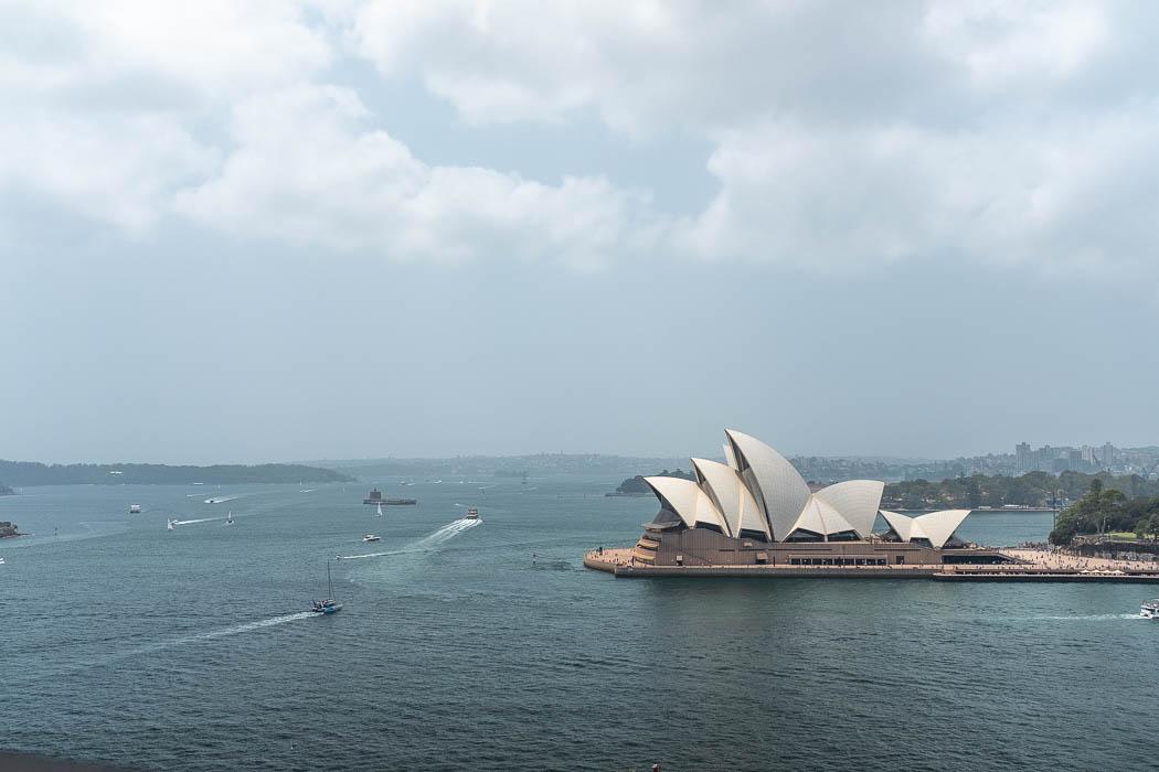 Oper von der Harbour Bridge aus