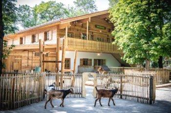 Ein Gehege im Münchner Tierpark