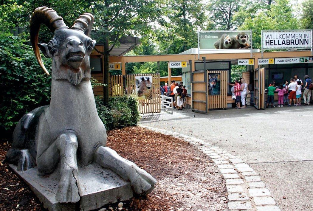 Der Eingang zum Tierpark Hellabrunn in München