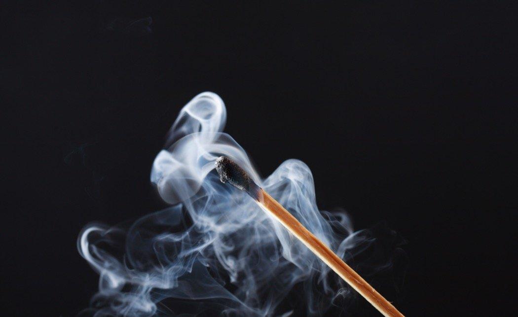 Rauch Streichholz