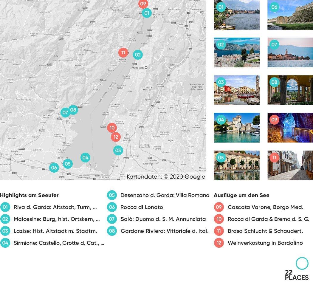 gardasee karte sehenswürdigkeiten Gardasee: Die 22 schönsten Sehenswürdigkeiten