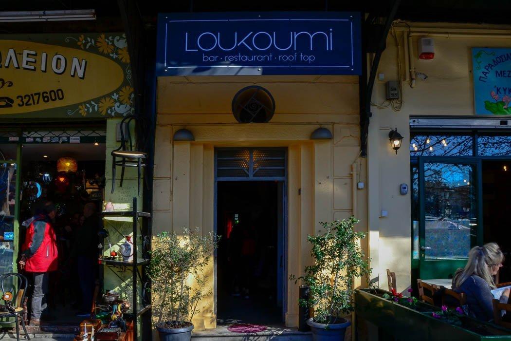 Eingang Loukoumi Bar