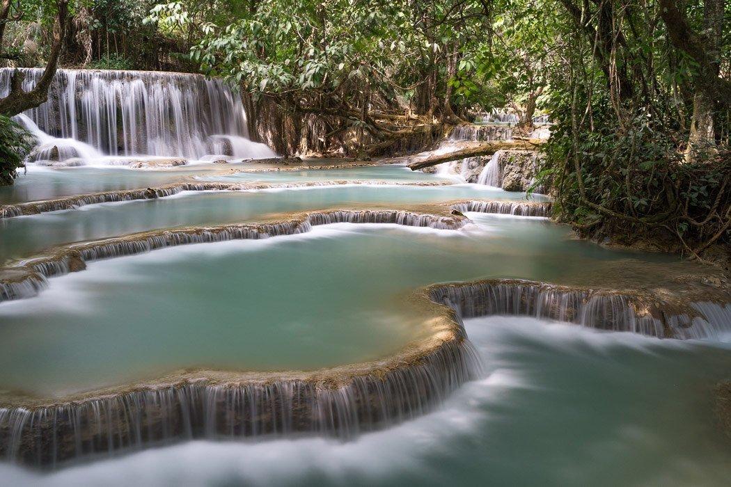 Wasserfall mit Polfilter und ND-Filter