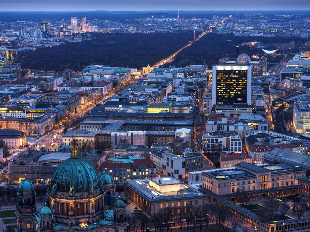 Aussicht vom Fernsehturm Berlin