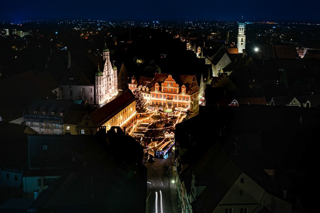 Blick auf Marktplatz Memmingen