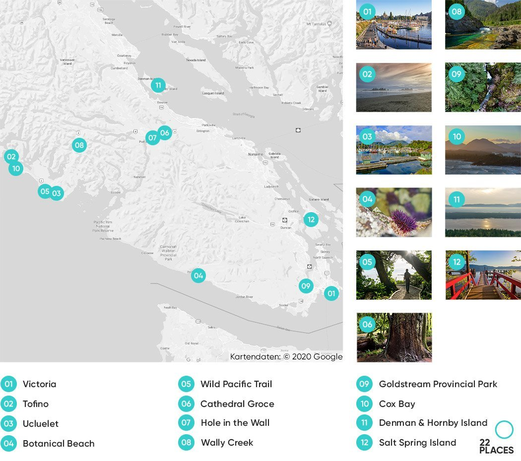 Vancouver Island Guide Karte