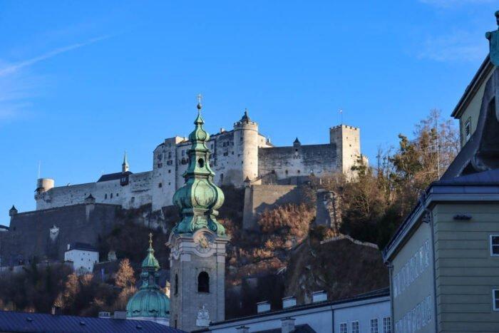 Blick von unten auf Festung