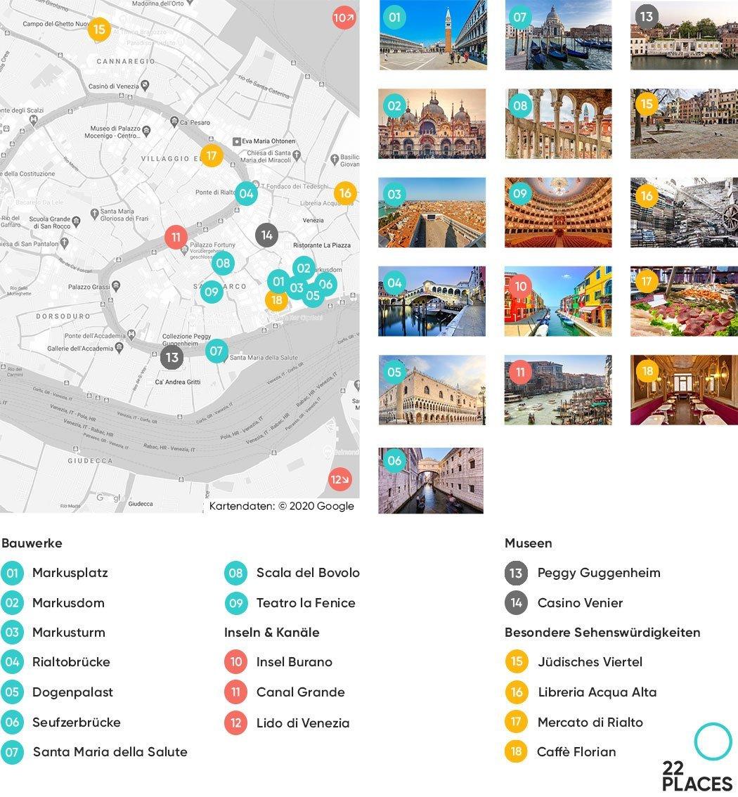 Venedig Sehenswürdigkeiten Karte