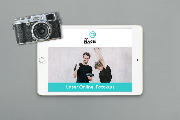 Verschenke einen Gutschein für den 22places Online-Fotokurs
