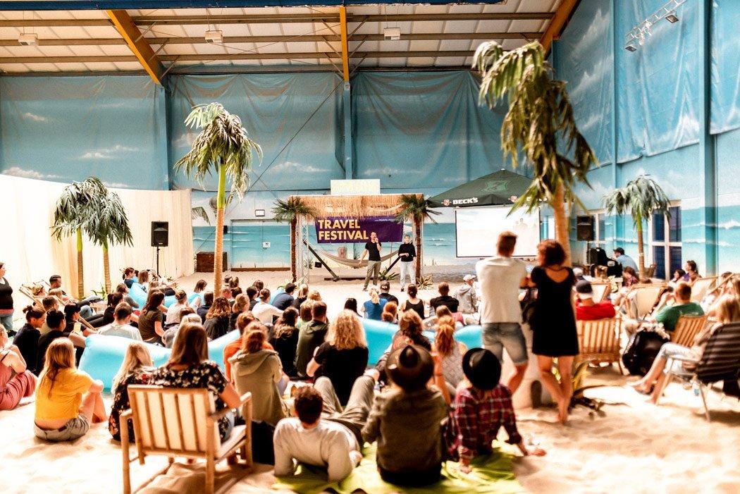 22places spricht auf dem Travel Festiva