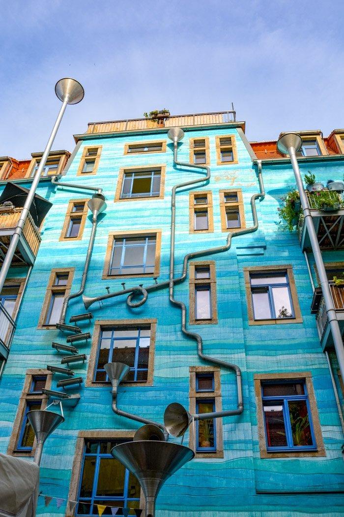 Das blaue Haus in der Kunsthofpassage