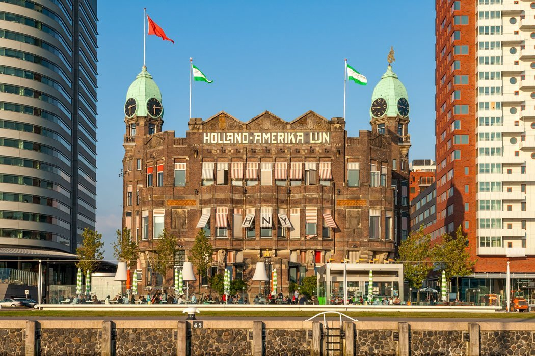Das Hotel New York in Rotterdam