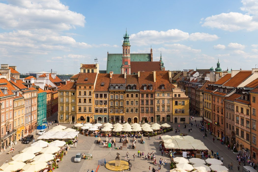 Ausblick auf die Warschauer Altstadt