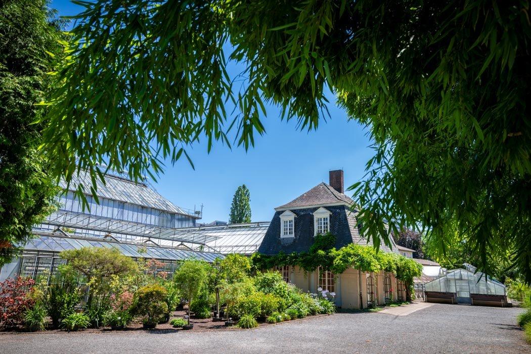 Der botanische Garten in Heidelberg von außen