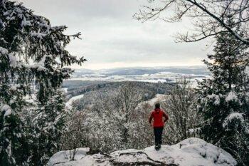 Der Sattelberg im Bayerischen Wald im Winter