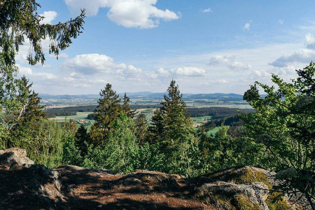 Ausblick vom Sattelberg im Bayerischen Wald