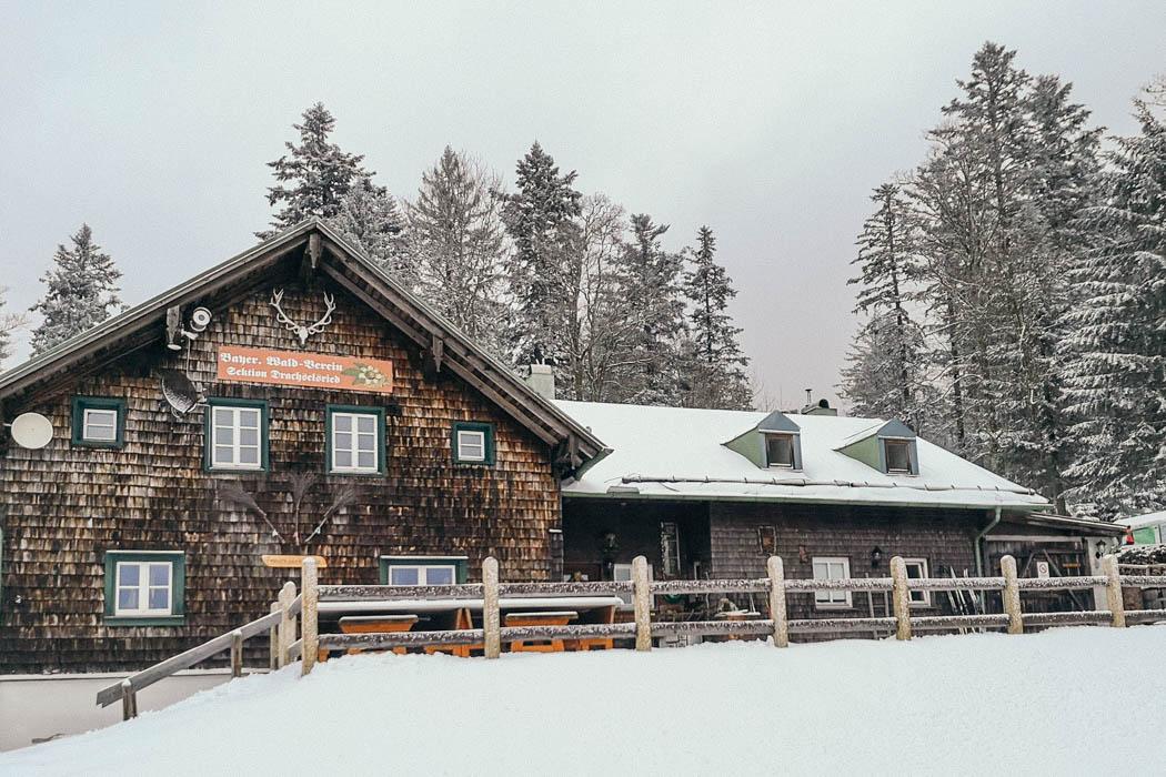 Die Berghütte Schareben im Bayerischen Wald