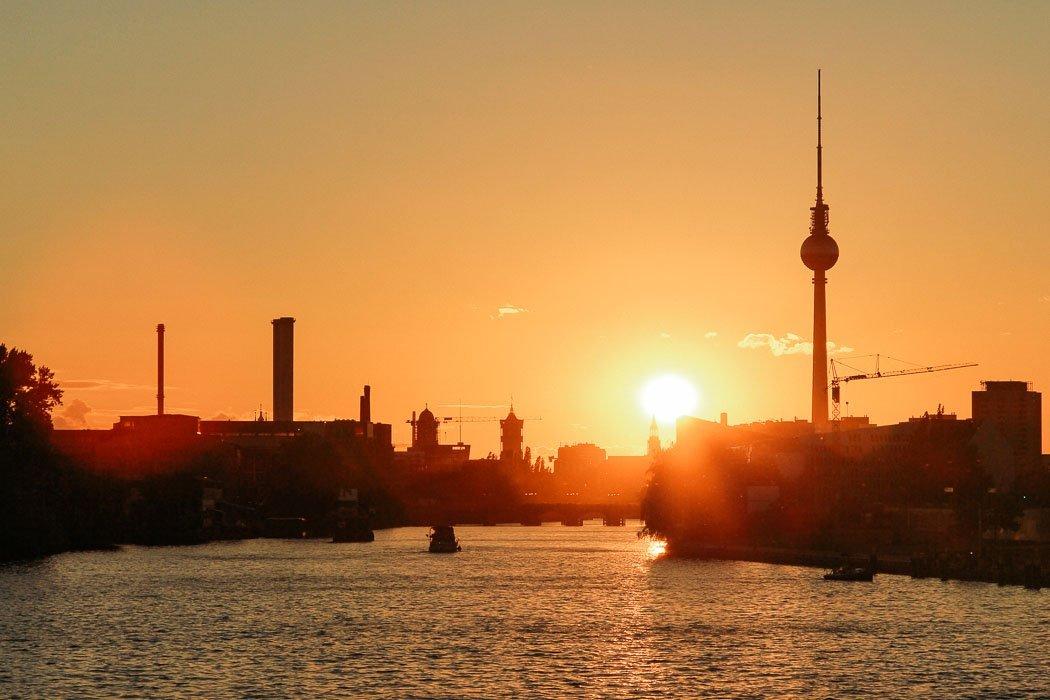 Sonnenuntergang Oberbaumbrücke Berlin