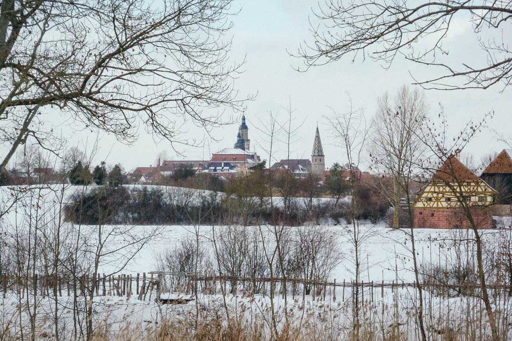 Blick auf das Rathaus von Bad Windsheim