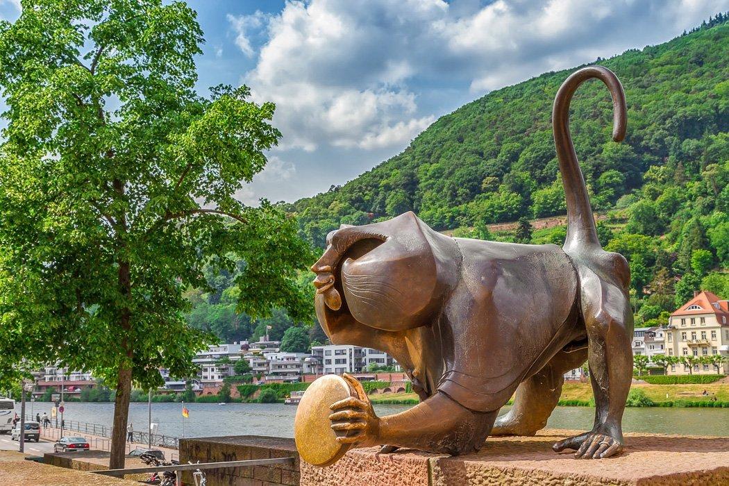 Der Brückenaffe in Heidelberg