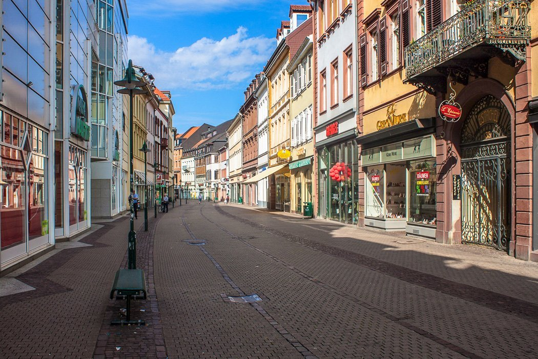 Die Hauptstraße in Heidelberg
