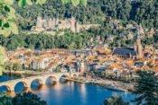 Blick auf Heidelberg, Schloss und Neckar