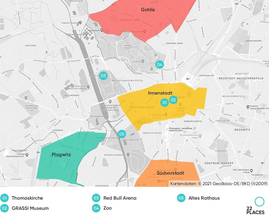 Leipzig Hoteltipps Karte