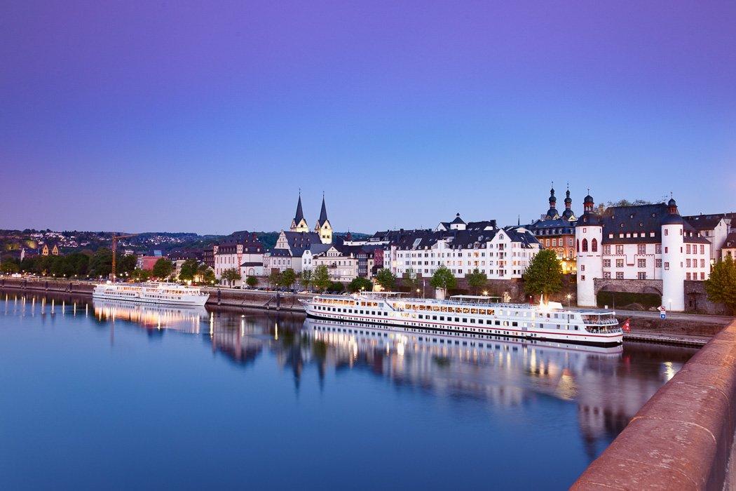 Blick auf Koblenz von der Balduinbrücke