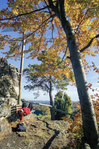 Aussichtsplatz in der Fränkischen Schweiz