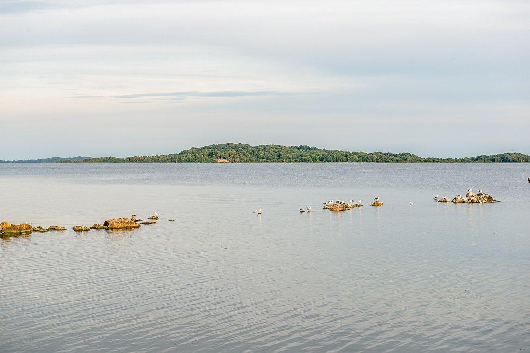 Blick auf Vilm an der Ostsee