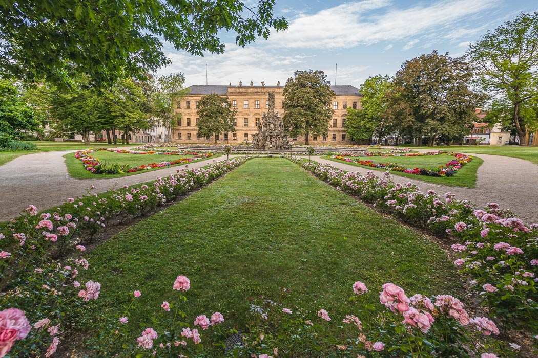 Schlossgarten mit Markgrafenschloss