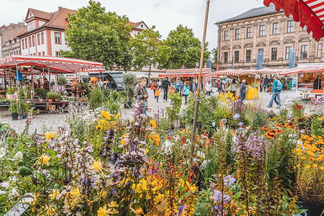 Wochenmarkt in Erlangen