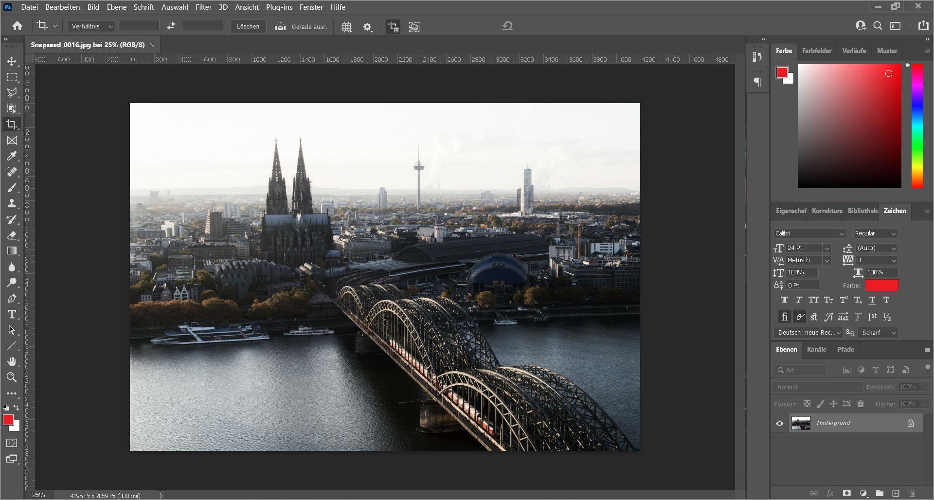 Arbeitsfläche in Photoshop