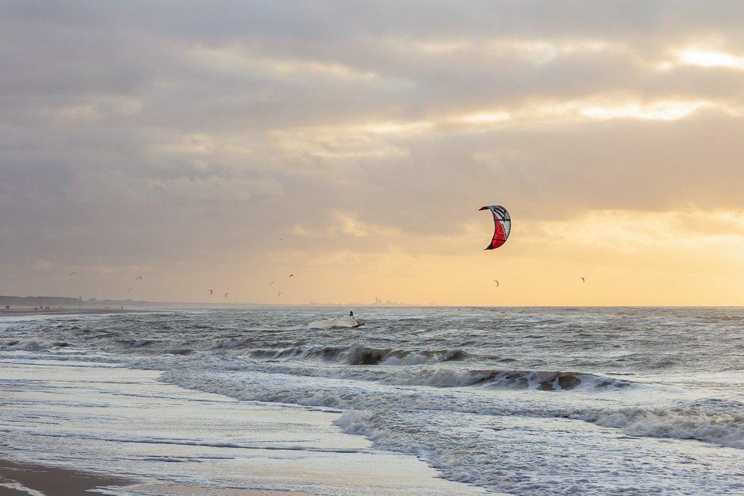 Kitesurfer auf Baltrum