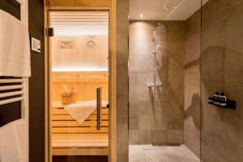 Sauna im EchtZeit Hotel