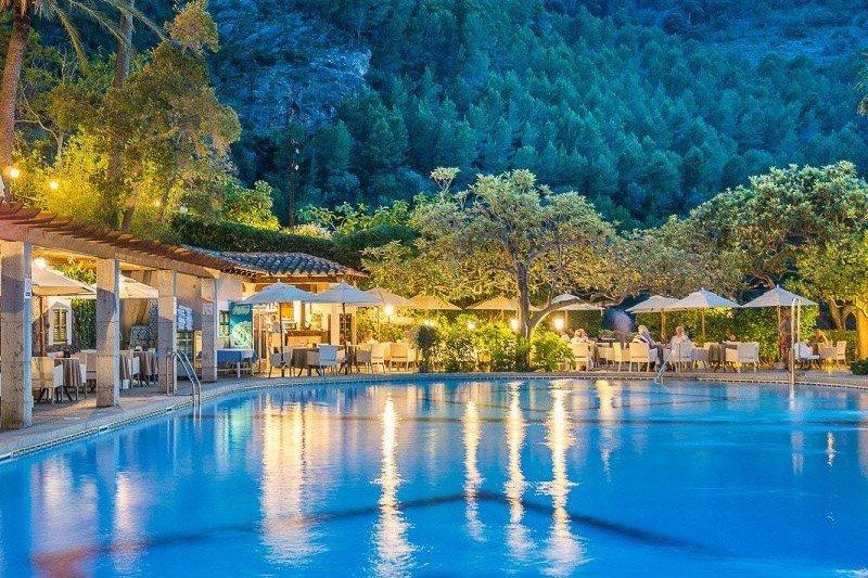 Poolbereich im Es Molí, Mallorca