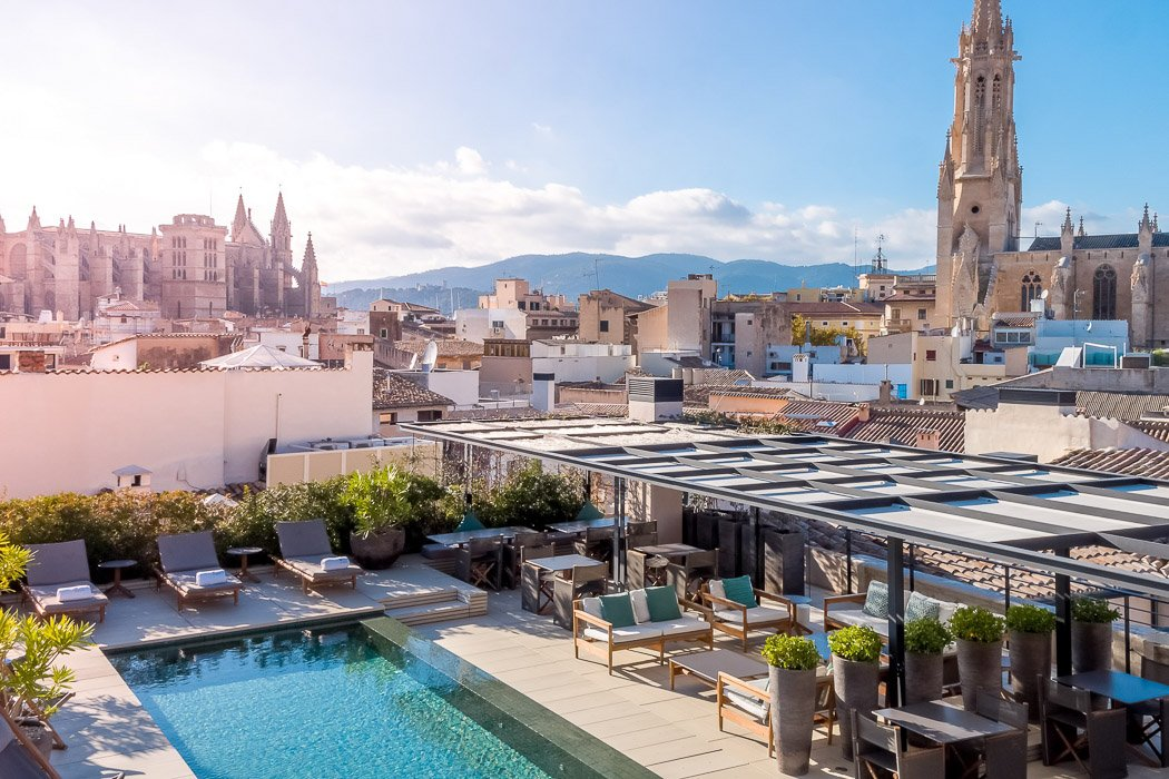 Dachterrasse im Sant Francesc, Mallorca