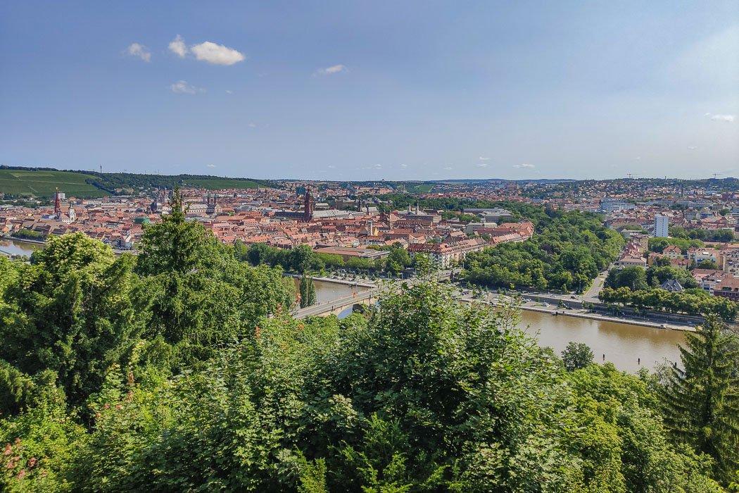 Blick vom Käppele auf die Würzburger Altstadt