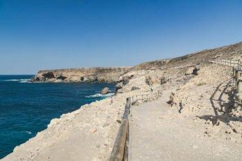 der Weg zu den Höhlen von Ajuy aus.