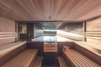 Sauna im Das Wanda Hotel