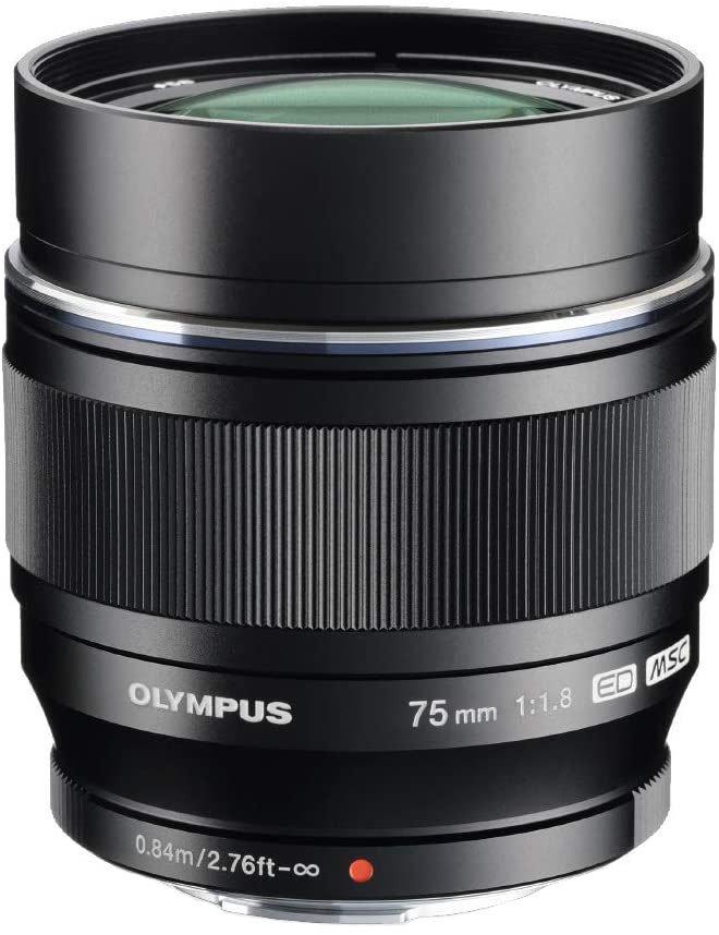 Olympus 75 mm, f/1.8
