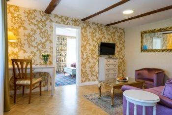 Zimmer im Boutiquehotel Schlosspalais